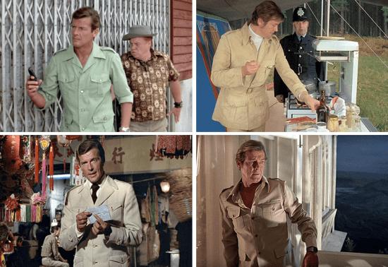 Moda de safári: Roger Moore nos anos 70