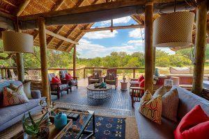 Lounge du Thornybush Game Lodge au Kruger, l'un des meilleurs hébergement pour combiner safari et plage