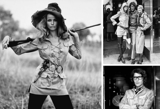 Moda de safári: Yves Saint Laurent
