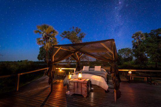 Nuit à la belle étoile à Abu Camp, romantique campement au coeur du Botswana