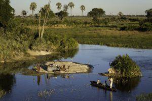 Safari en mokoro à Jao Camp, Delta de l'Okavango, Botswana