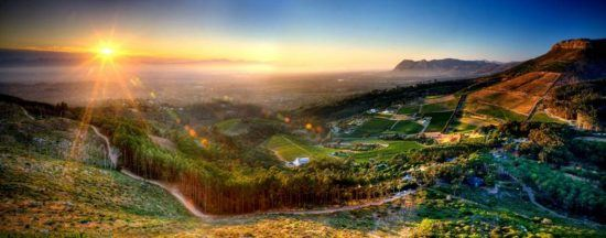 View over the Constantia Valley, Cape Town, South Africa