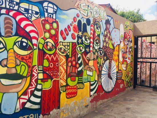 Grafitti em Maboneng, Joanesburgo