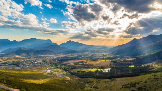 Franschoek Wine Valley in South Africa