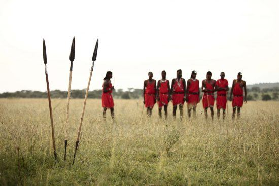 Maasai from the nearby village are often seen at Klein's Camp