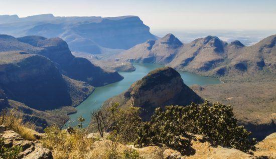 Vista aérea del cañón del río Blyde