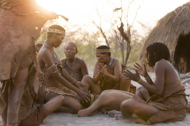 Some of the bushmen of Botswana