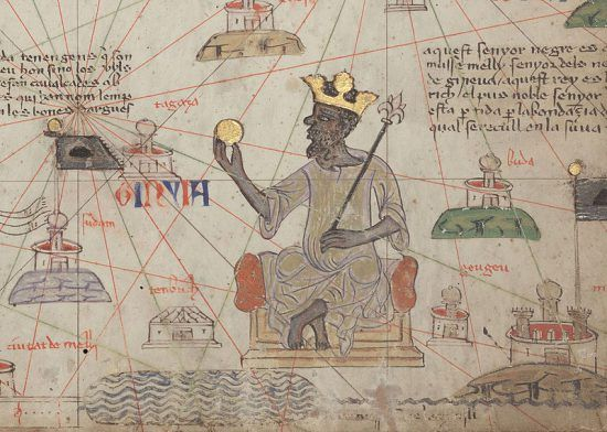 Mansa Musa, one of the richest people in history, was the leader of the Mali Empire