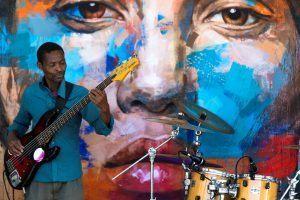 Concert live lors de la vente aux enchères à Ellerman House au profit d'ArtAngels Africa