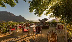 El hotel Delaire Graff, en los viñedos de Stellenbosch, Sudáfrica