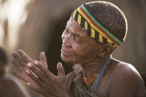 Bushman San en Afrique du Sud