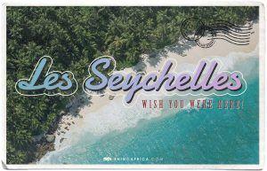 Les Seychelles postcard