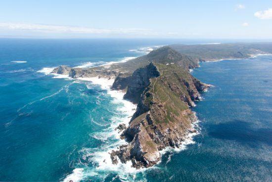 Cape Point und das Kap der Guten Hoffnung aus der Vogelperspektive