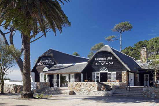 Frontal view of Harbour House and La Parada at Constantia Nek
