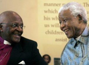 Nelson Mandela et Desmond Tutu
