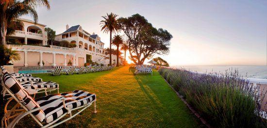Ellerman House's exclusive location on a heel overlooking the Atlantic Ocean