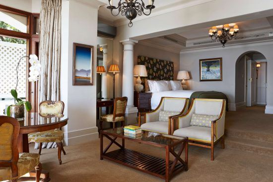 The interior at Ellerman House's deluxe house room