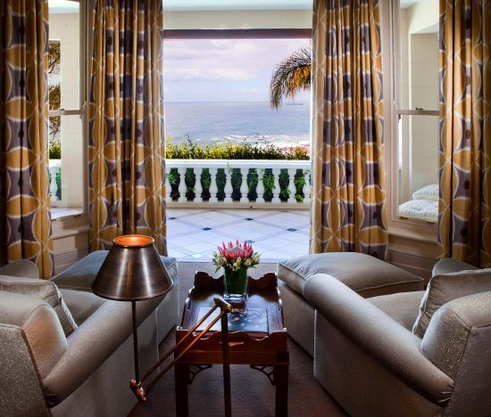 The comfortable interior of a Ellerman House Suite