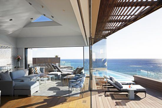 Gorgeous views from inside and outside Ellerman House's Villa Two