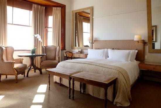 The Superior House Room at Ellerman House enjoys beautiful sunlight