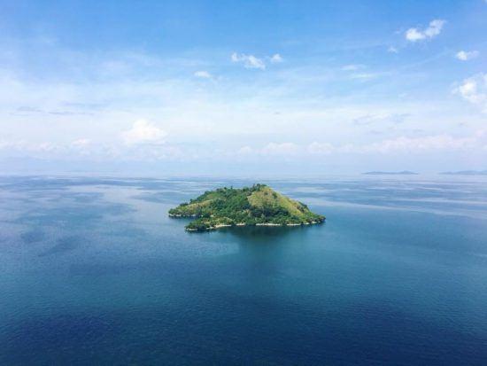île paraidsiaque du lac kivu au Rwanda