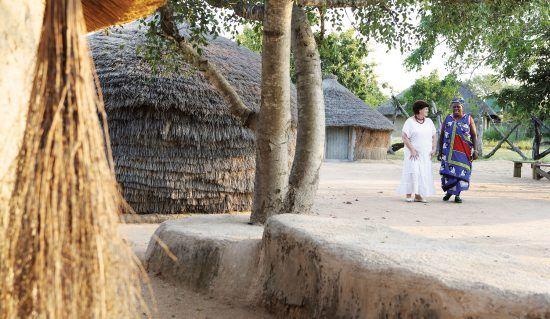 VIsita alguno de los poblados locales e interactúa con sus pobladores