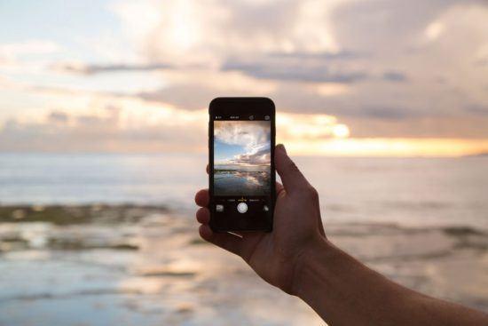 Wish you were here - photo d'Iphone et coucher de soleil