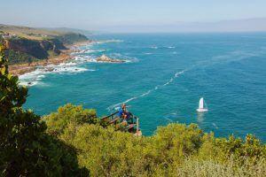 Vue panoramique de Plettenberg Bay, sur la Route des Jardins