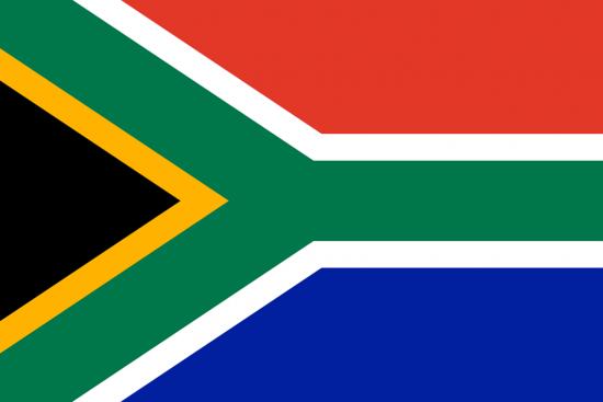 Die Flagge Südafrikas