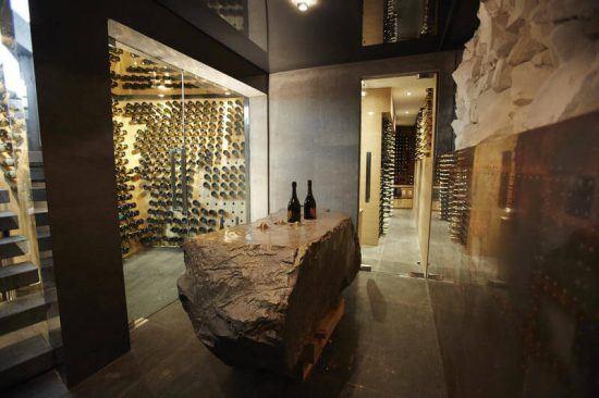 Champagner- und Weinkeller mit Sammlung zahlreicher Weine im Ellerman House