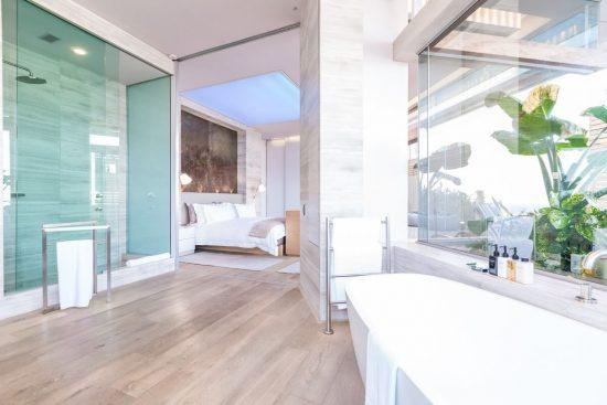 The second bedroom at Ellerman House's Villa Two.