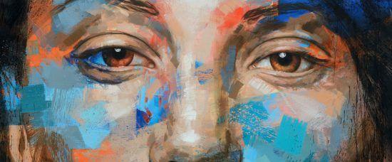 Kunstwerk im Ellerman House: Portrait einer Frau in bunten Farben