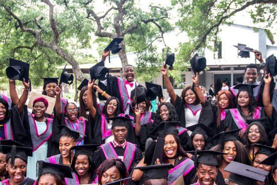 Remise de diplômes du campus de l'association Good Work Foundation en Afrique du Sud.