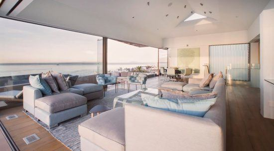 The Main Living Space of Ellerman House's own Villa Two.