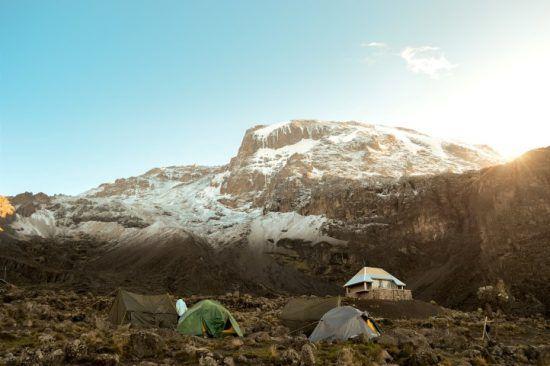 Refuge sur la montagne du Kilimandjaro en Tanzanie.