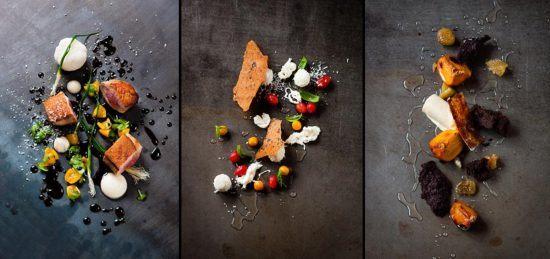 De l'art, des assiettes colorées et de la gastronomie chez The Test Kitchen.