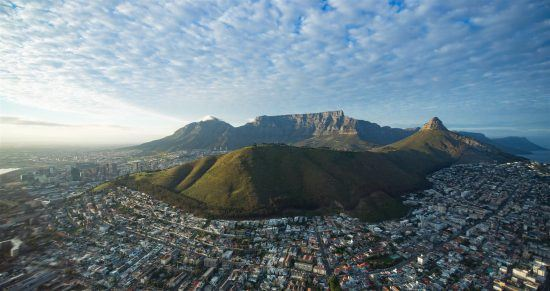 Aerial shot of Table Mountain