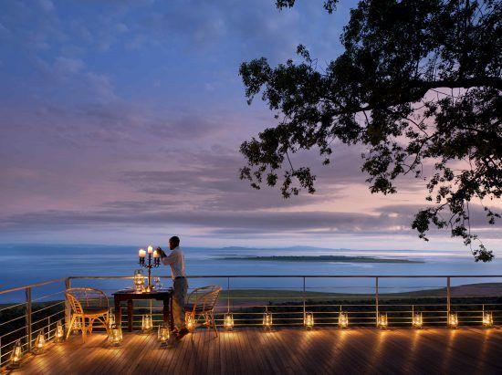 Stunning views across Lake Kariba from the Deck of Bumi Hills Safari Lodge