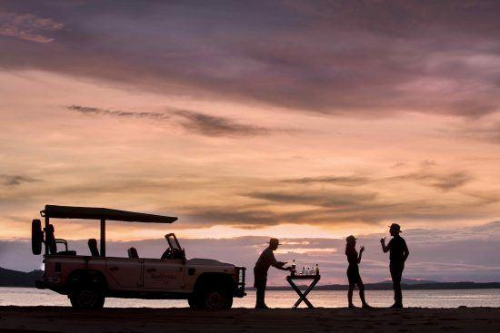 Sunset drinks at Lake Kariba