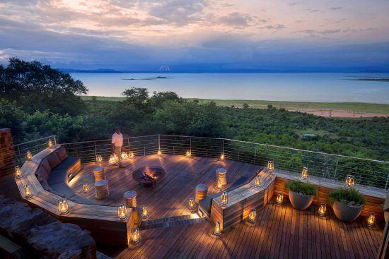 View over Lake Kariba from Bumi Hills