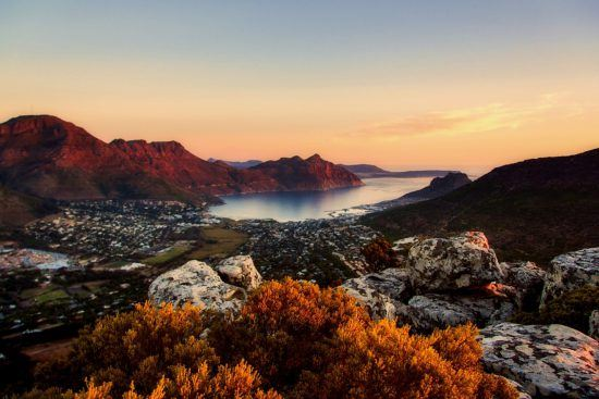 A view down into the Hout Bay valley in Cape Town in Rhino Africa's Complete Guide