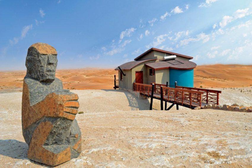 Inmitten der Wüste in der Desert Breeze Lodge