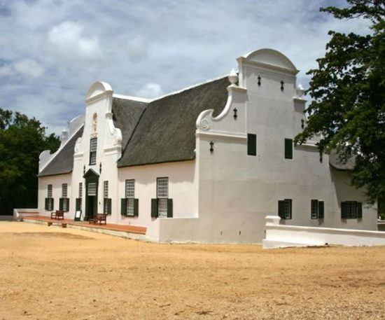 An example of Cape Dutch architecture in Rhino Africa's Complete Guide