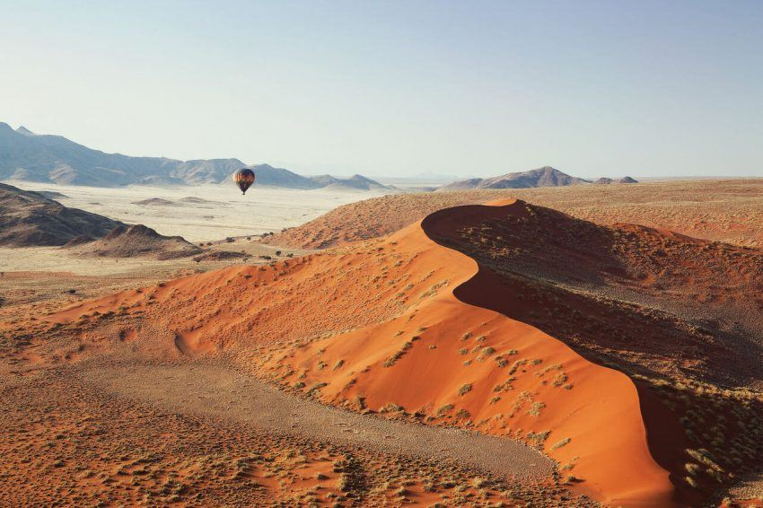 Hoch über den Dünen in der Kulala Desert Lodge