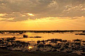 Atardecer sobre el Parque Nacional Chobe, Botsuana
