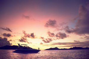 A boast cruise through the Seychelles