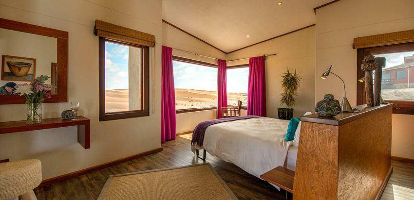 Traumblick vom Zimmer in der Desert Breeze Lodge