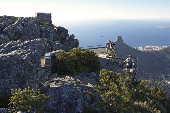 Die obere Station der Seilbahn in Kapstadt