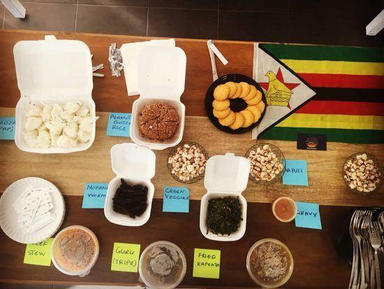 Degustação de pratos do Zimbábue promovida pelo restaurante Pahari, na Cidade do Cabo