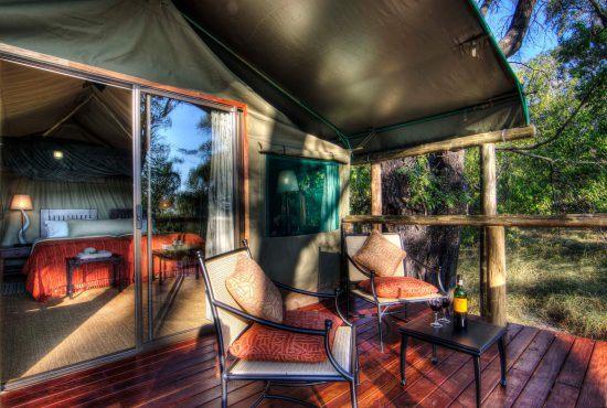 The Okavango Delta in Botswana has stunning luxury camp safari accommodations